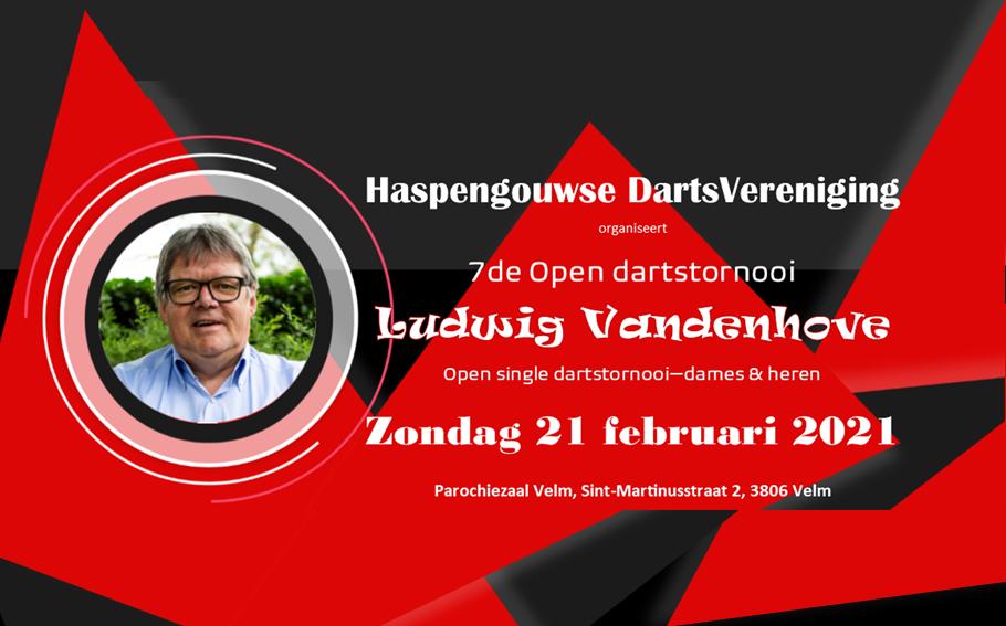 7de Open dartstornooi Ludwig Vandenhove - 21 februari 2021